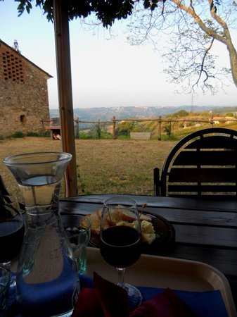 Tenuta il Corno: The view from the veranda.