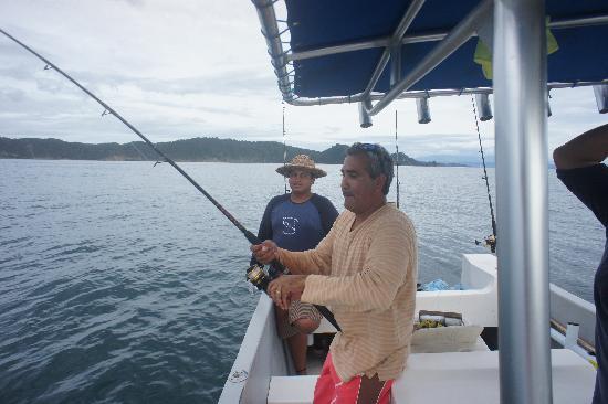 San Juan del Sur Surf and Sport: Dario reeling in the big one.