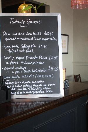 The Old Haberdasher: & a good daily specials menu