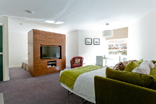 Merchiston Residence: View of made up sofa bed in 1 bed apartment