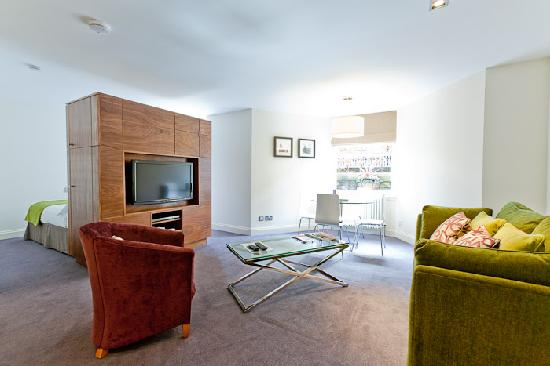 Merchiston Residence: General view of lower ground floor 1 bed apartment
