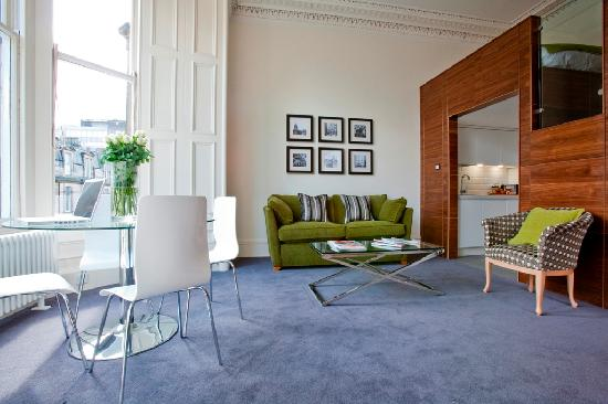Merchiston Residence: General view of seating area in 2 bed apartment