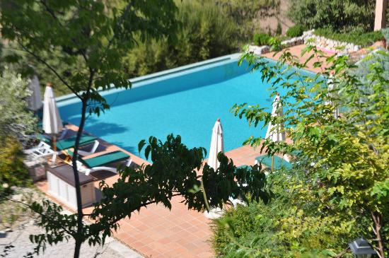 The pool - nicely located a bit down the hill - nice and private.