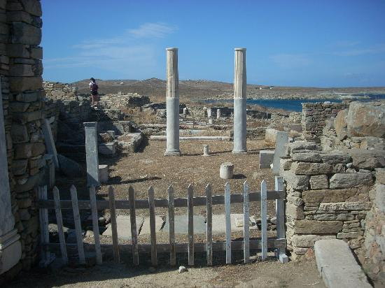 Cleopatra's House: These beautiful blue and white columns are in the house just near the House of Cleopatra.