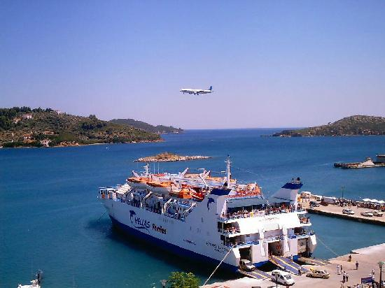 Landing on Skiathos