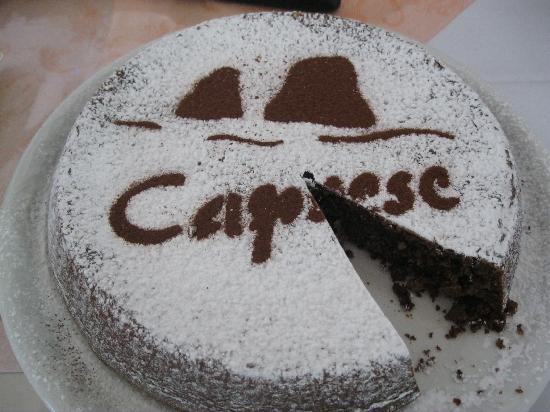 Albergo Esperia : A fresh, yummy Torta Caprese for breakfast!