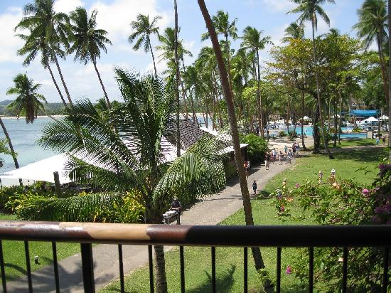 Shangri-La's Fijian Resort & Spa: view from balcony