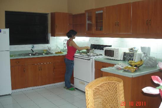 Aparthotel Guijarros : Cocinando en la cocina de la Suite
