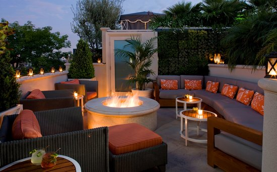 The Peninsula Beverly Hills: Roof Garden Firepit