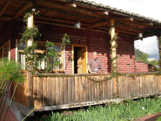 Hosteria Cabanas del Lago: Our front door and porch