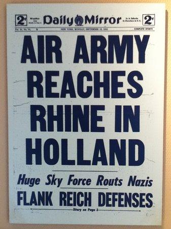 Airborne Museum Hartenstein: part of exhibition