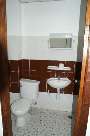 Mixok Guesthouse: western toilet with mirror