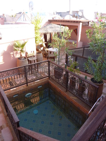 Riad Souad: The little plunge pool - just what you'd need in the middle of August