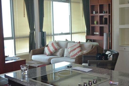 TheRiverSideBangkok Elegant Apartments: Looking into lounge