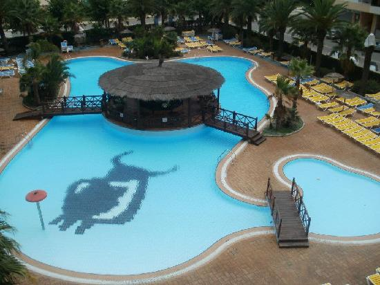 Golden Taurus Park Resort : One of the pools - taken from Room 380 (Family suite)