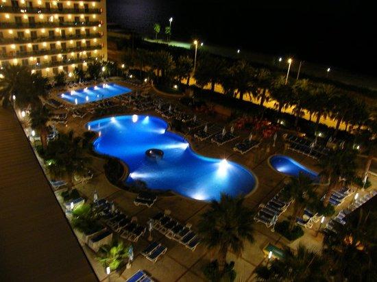 Golden Taurus Park Resort: The main pools at night