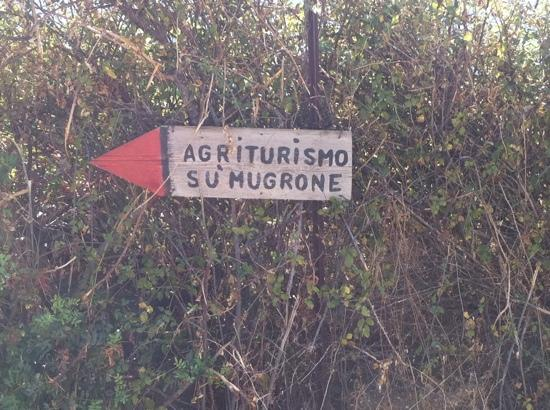 Su Mugrone: you know it's gonna be good with a sign like this