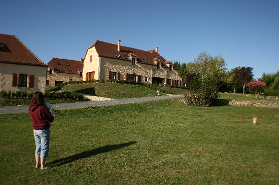 Domaine De Brantome Holiday Rentals : View towards our house (right hand side)