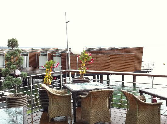 Hotel Palafitte: La terrasse du restaurant