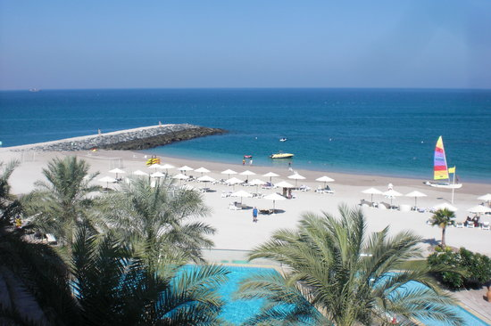 Dibba Al Fujairah, Förenade Arabemiraten: View from the bedroom