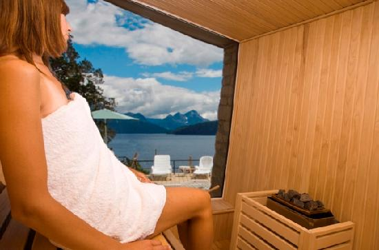 Sol Arrayan Hotel & Spa: Sauna with Lake view