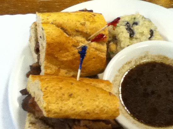 Cafe 107: Prime rib dip sandwich