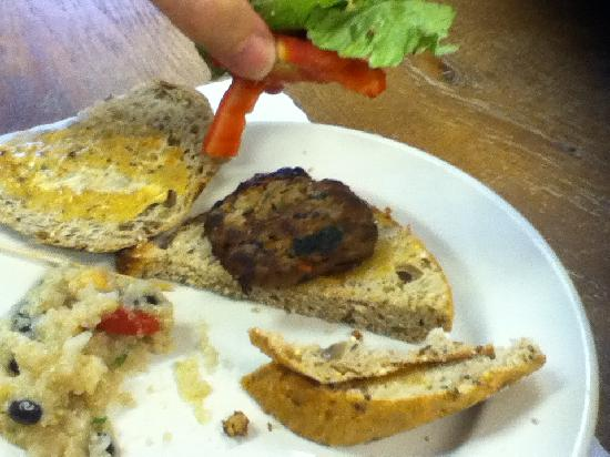 Cafe 107 : Same turkey burger as before, different view