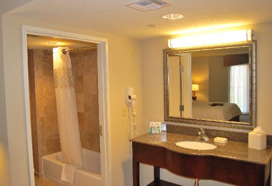Hampton Inn & Suites Phoenix/Gilbert : Studio Suites Large Bathroom