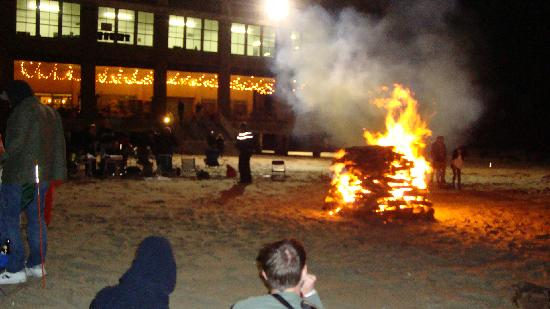 Paramount Theater And Convention Hall Beach Bonfire Outside The Outdoor Bar