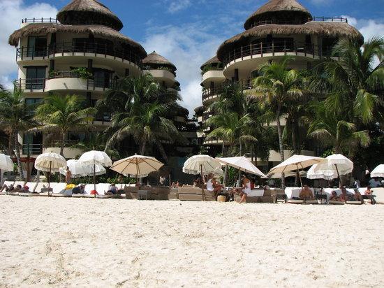 El Taj Oceanfront & Beachside Condos Hotel: The beach in front of the hotel