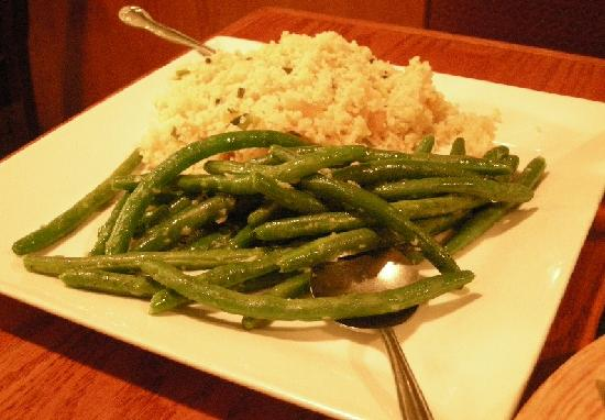 Legends Grille: Couscous and green beans