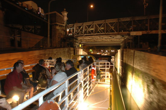 Canauxrama: Entering the Seine River, just after passing through some locks