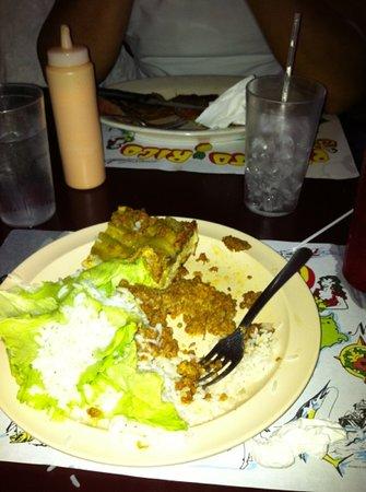 La Cueva del Chicken Inn: comida
