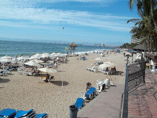Playa Los Arcos Hotel Beach Resort & Spa : From balcony, looking North up beach