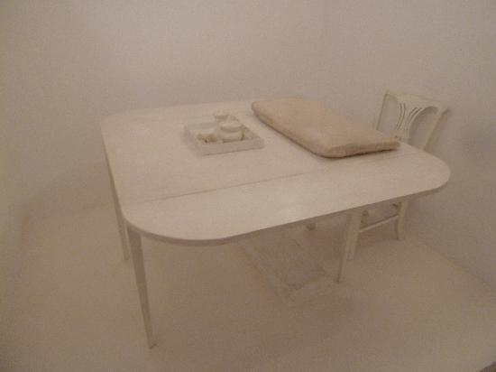 Casa di Goethe: Tisch und Sessel