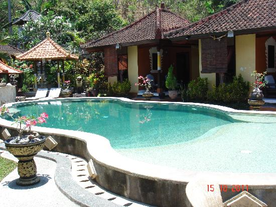 Padangbai Beach Homestay: piscina