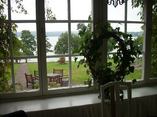 Hotel Villa Soderas: vista dalla finestra del ristorante