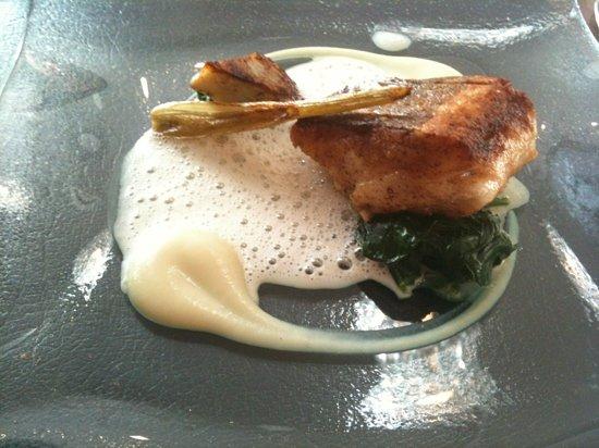 ABode Restaurant: hake with artichoke and celeriac.