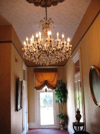 Chandelier In Hallway Picture Of Cornstalk Hotel New