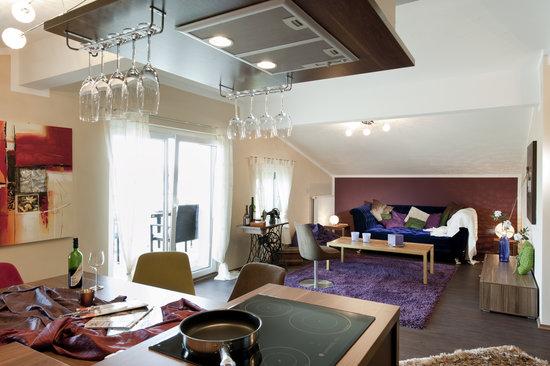 Hotel Daniela: Wohn- und Essbereich