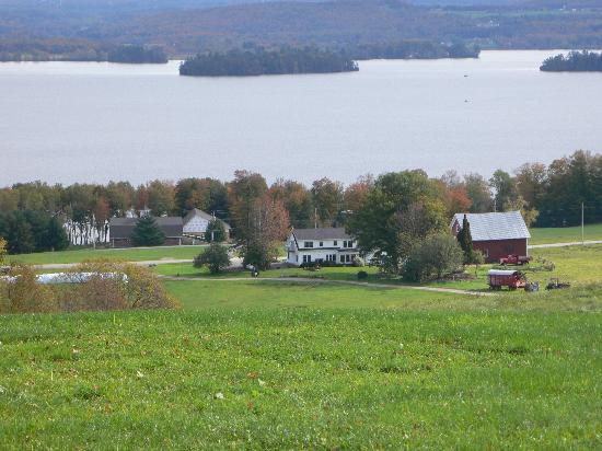 """From""""The Pond"""" Cliff Haven Farm B&B and Lake Memphremagog"""