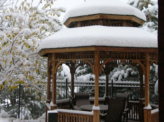Courtyard Denver West/Golden:                   The gazebo from our windown after 10 inches of snow