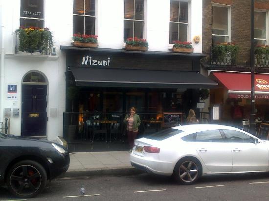 Nizuni Japanese Restaurant: One of many restaurants in busy Charlotte St