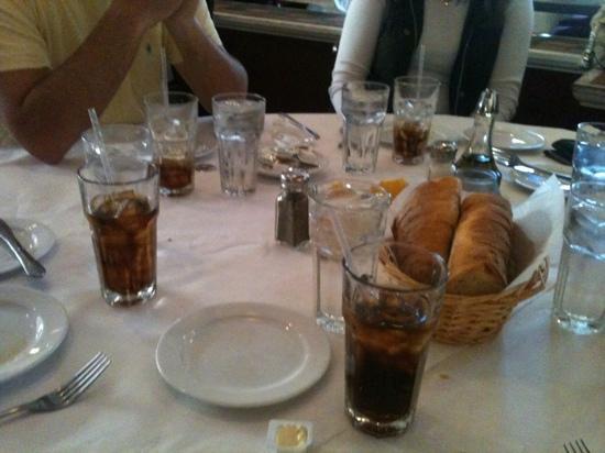 Athena Greek Restaurant: our table