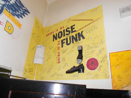 Each company/show signs the wall backstage - Picture of The Fox ...