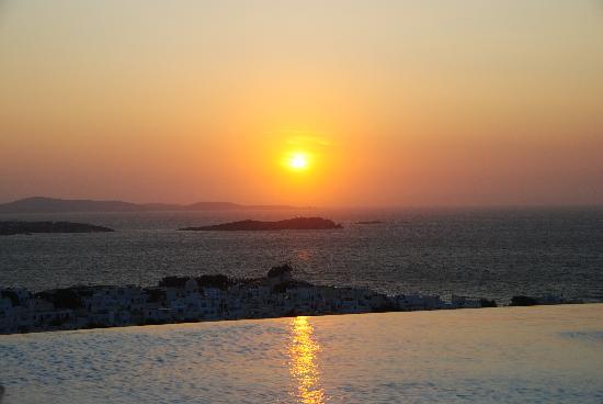 Vencia Hotel: Puesta de Sol