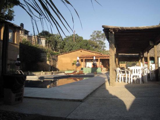 La Villada Inn: View of the looking towards the back of the compound.