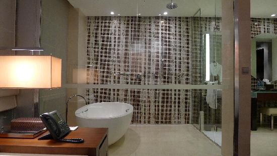 Grand Hyatt Macau : Another view of shower stall and bath tub