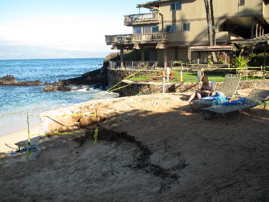 Kahana Sunset: Storm damage - no estimate at the time as to repairs