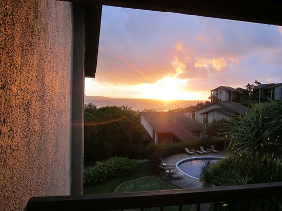 Hanalei Bay Resort: View from Condo 7308 - Amazing sunsets